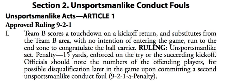 Unsportsmanlike Penalty